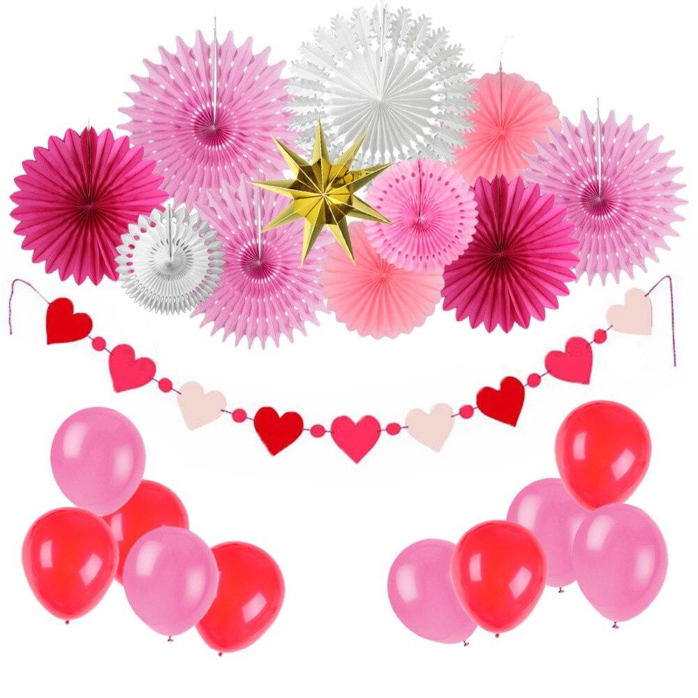 New 5pcs Tissue Paper Fan Diy Crafts Hanging Wedding: Valentines Day Wedding Shower Party Decoration Tissue