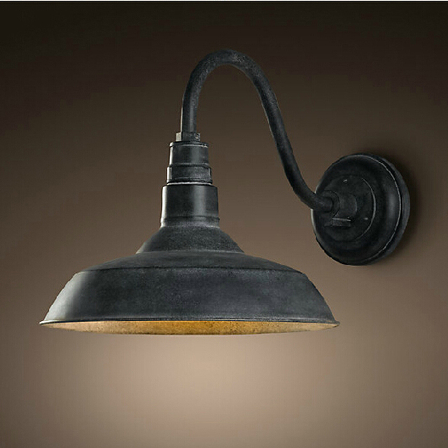 Outdoor industrial wall lamps loft black arm vintage wall lights outdoor industrial wall lamps loft black arm vintage wall lights lighting sconce for home gate doorway aloadofball Image collections