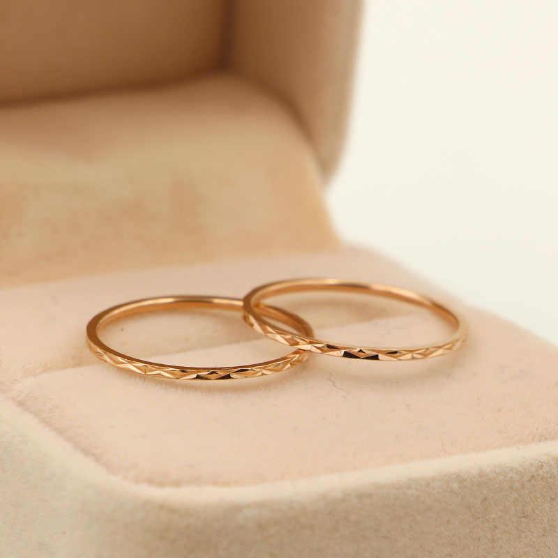 Martickสไตล์ที่เรียบง่าย316Lสแตนเลสครอสดอกไม้แบบสำหรับผู้หญิงแหวนแต่งงานแฟชั่นเครื่องประดับนิ้วR61
