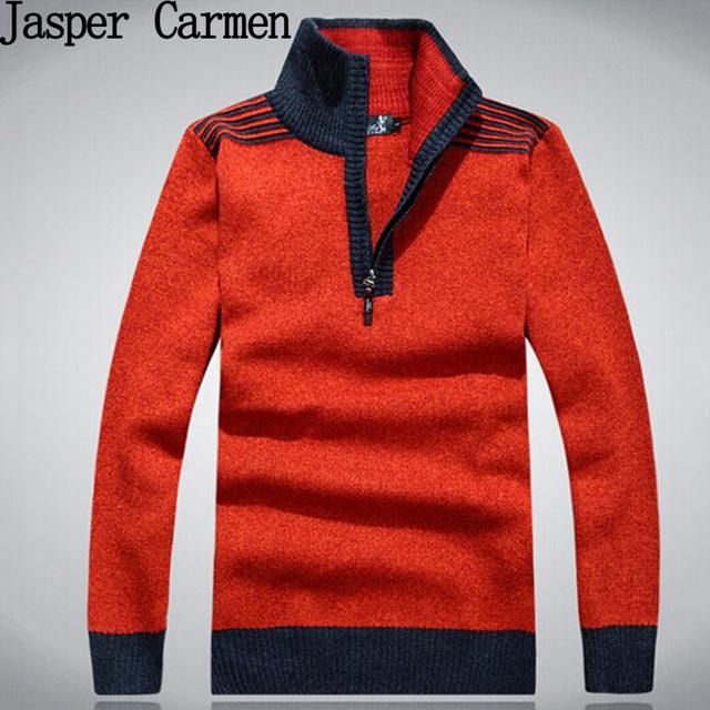 2017 Nova moda de alta qualidade dos homens camisola da Marca Slim Fit Camisola Ocasional Básico Com Decote Em V Malhas roupas Frete Grátis