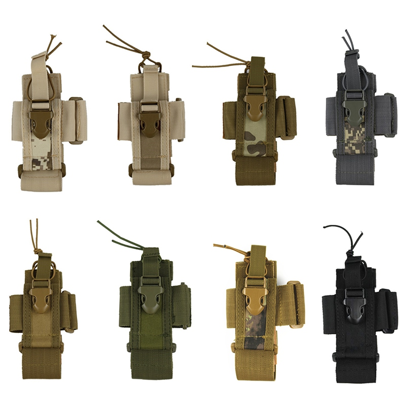 Outdoor Package Adjustable Pouch Tactical Pendant Military Molle Radio Walkie Talkie Holder Bag Mag Pocket Sports Bag Cover