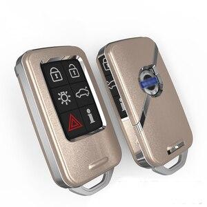 Image 5 - Yüksek kalite araba anahtarı koruma kapağı kılıf VOLVO S60L S80L XC60 S60 V60 araba Styling akıllı anahtar kabuk kapakları