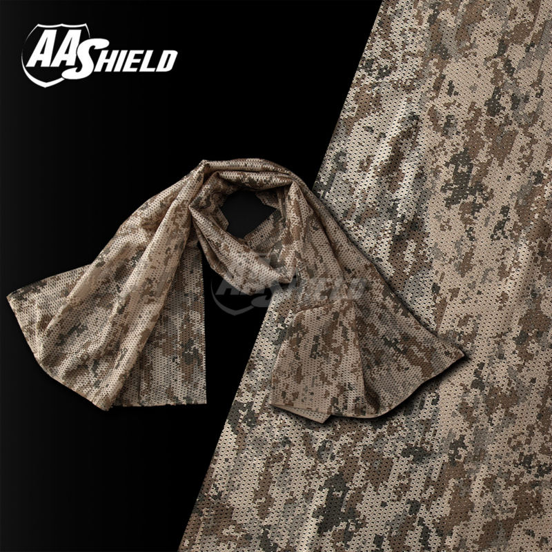 AA Shield Camo Tactical Scarf Outdoor Military Neckerchief Forest Hunting Army Kaffiyeh Scarf Light Weight Shemagh DESERT-DIG датчика давления масла таврия