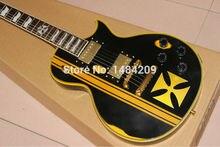 Custom Aged E P Metallica James Hetfield Iron Cross Classic Best Electric Guitar Free Shipping