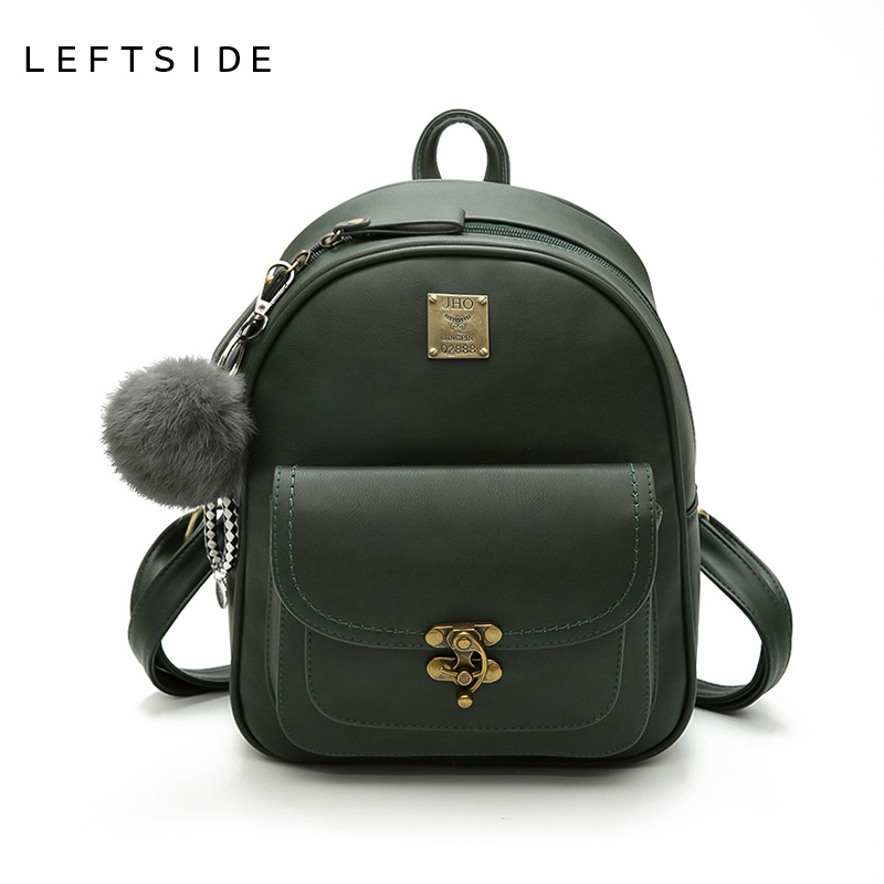 LEFTSIDE Fashionable Backpacks For College PU Leather ladies Women Back pack Bag For Girls School Bags Travel Luxury Backpack