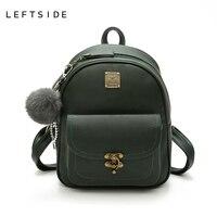 LEFTSIDE Modne Plecaki Dla College PU Skóra panie Kobiety plecak Torba Dla Dziewczyn Torby Szkolne Podróży Luksusowy Plecak