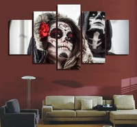 HD Printed Day Of The Dead Face Painting Canvas Print Room Decor Print Poster Picture Canvas