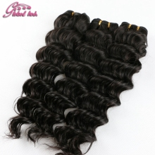 Ali Gluna Virgin hair Indian Remy Curly 100% unprocessed Human Hair Weaving Cheap Hair Products Deep Wave Curly Hair Extension