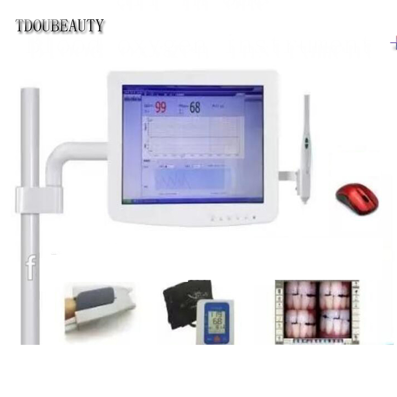 TDOUBEAUTY  15 oral all-in-one camera is 4:3 screen touch screen+blood oxygen instrument +Blood pressure monitor  free shipping tdoubeauty oral camera 6 led light video