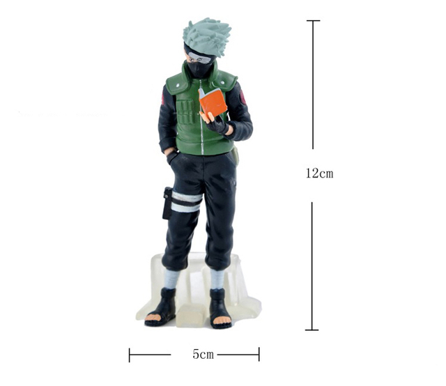 Naruto Sasuke Kakashi 5 Pcs/Set PVC Anime Action Figure Toy