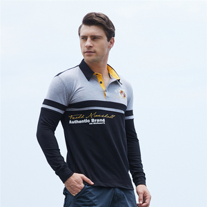 Image 5 - ZOGAA Mens Polo Shirt High Quality Cotton Long Sleeve Polo Shirt Spring Autumn Male Patchwork Lapel Polo Shirt Plus Size S 3XL