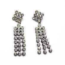 new long tassel women earrings luxury vintage gem crystal european hotsale fashion jewelry 542
