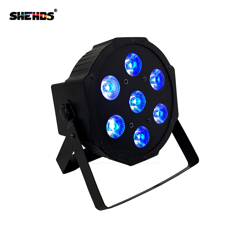 LED Flat Par 4in1 RGBW 7x12 W Disco Light DMX 512 7CH Stage Party DJ PAR Lighting For Indoor Club Party Show SHEHDS шайба diffusor sh30 5m