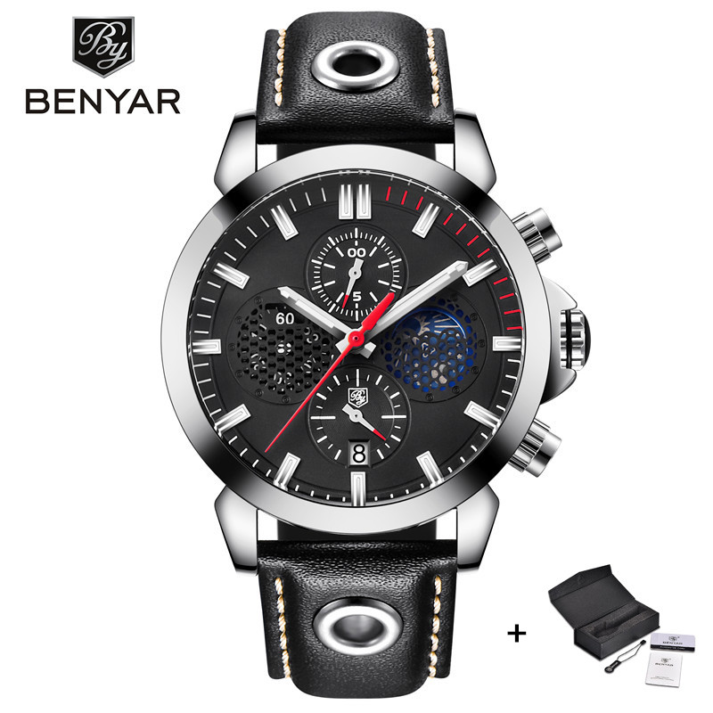 Fashion Sport Watch Men 2018 Benyar Military Mens Watches Top Brand Luxury Quartz Wrist Watches for Men Clock relogio masculino casual mens watches top brand luxury men s quartz watch waterproof sport military watches men leather relogio masculino benyar