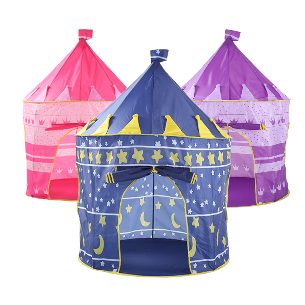 Kids Play Tent Us 23 18 39 Off Kids Play Tent Large Princess And Prince House Castle Palace Baby Toy Game Playhouse Tent For Children Gift In Toy Tents From Toys