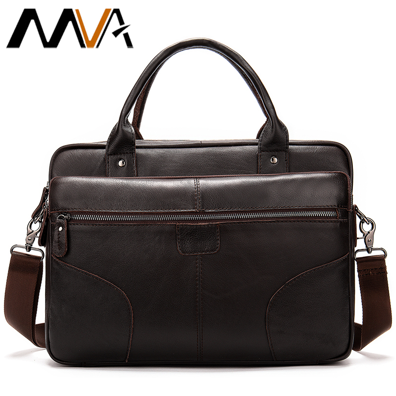 MVA Mens Briefcase Genuine Leather Laptop Bag for Men Computer Bags Male Large Capacity Messenger Men Shoulder Handbags 8626MVA Mens Briefcase Genuine Leather Laptop Bag for Men Computer Bags Male Large Capacity Messenger Men Shoulder Handbags 8626