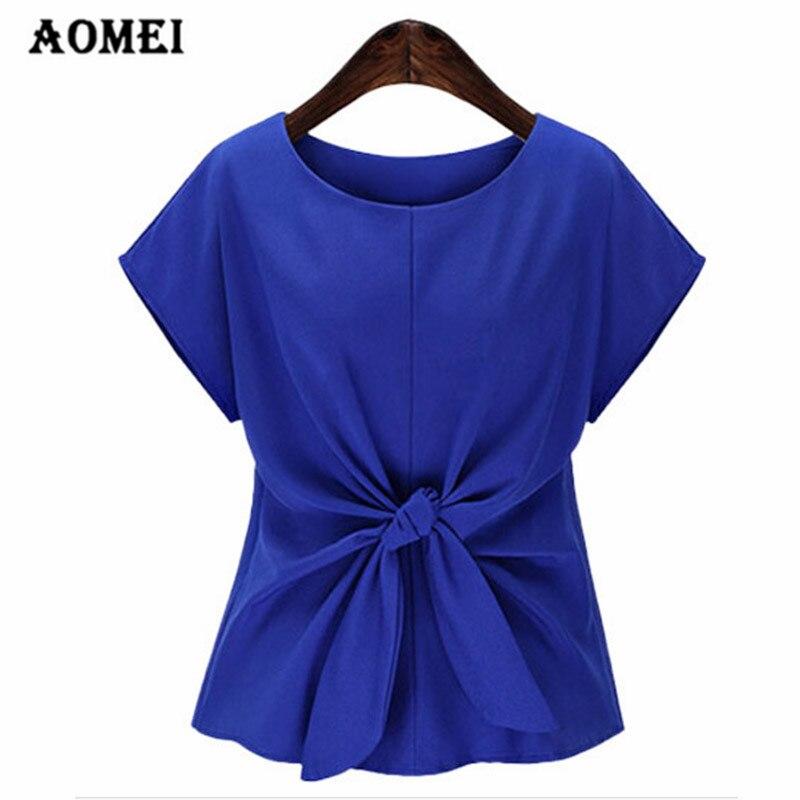 Summer Women Shirt Elegant Tee Shirt Bow Fashion Summer Clothing Plus Size 4XL 5XL Wear To Work Office Tops Blusas Solid Peplum