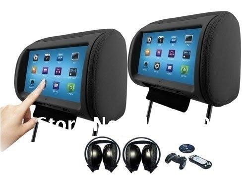 acheter 2x9 pouces hd cran tactile appui t te de voiture audio lecteur dvd pour. Black Bedroom Furniture Sets. Home Design Ideas