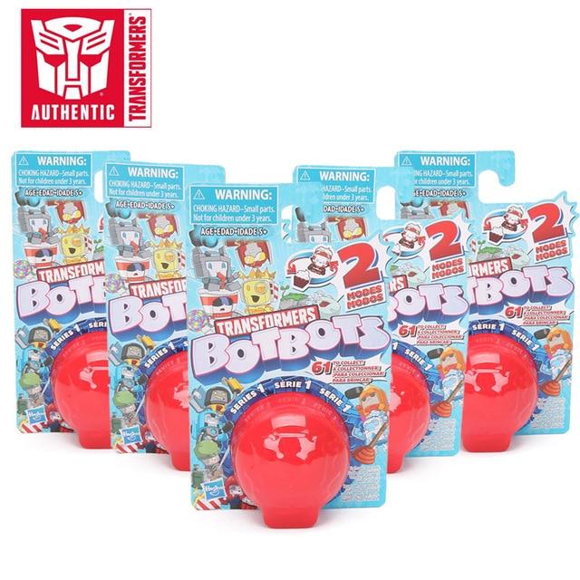 5 개/대 트랜스 포머 완구 Botbots 완구 시리즈 1 Bumblebee Optimus prime Megatron 액션 피규어 미스터리 2 in 1 Collectible Model