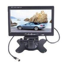 """7 """"TFT LCD COLORIDO de 2 Entrada de Vídeo Car Rear View Monitor de Encosto de cabeça DVD VCR Monitor Com Controle Remoto Suporte & Suporte Girar A Tela"""