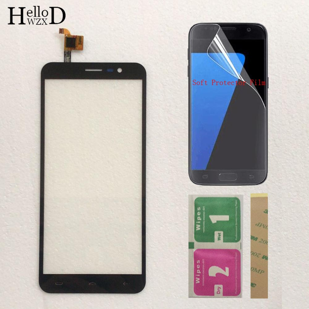 Touch Panel Sensor Touch Screen For HOMTOM S16 S 16 Touch Screen Digitizer Front Glass Panel Sensor Mobile Phone Protector Film