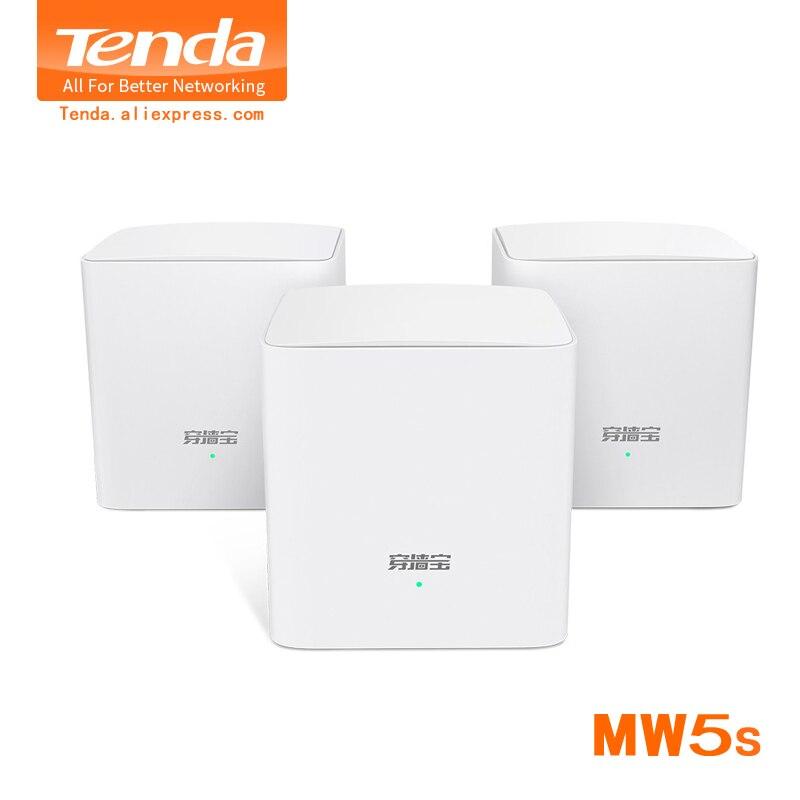 Tenda Nova Mw5s Gigabit sans fil Wifi routeurs AC1200 toute la maison double bande 2.4 Ghz/5.0 Ghz Wifi répéteur système de maille APP à distance