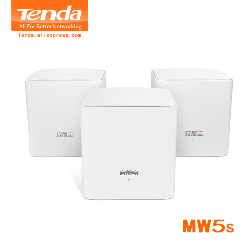 Tenda Nova Mw5s Gigabit Wireless Wifi Routers AC1200 Whole Home Dual Band 2.4Ghz/5.0Ghz Wifi Repeater Mesh System APP Remote
