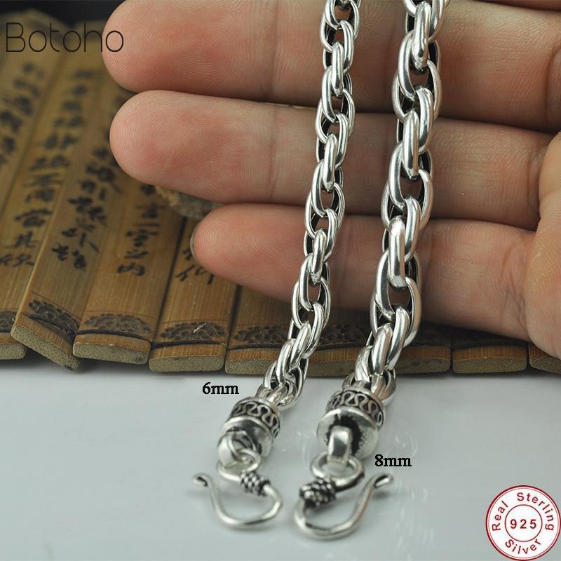 925 Sterling silver mens bracelet Couple bracelet Men's Jewelry Charm bracelet Luxury vintage punk rock knight men's jewelry2018
