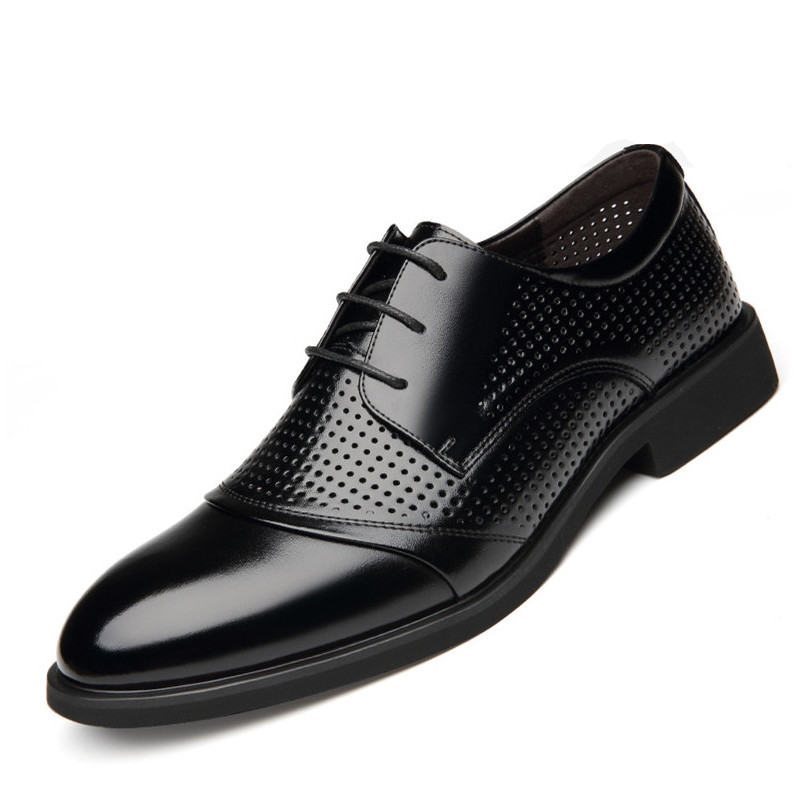 Boy Hollow Out Oxfords Formal Shoes Mens Leather Wedding Oxford For Men Dress  Fashion Shoe DB0182