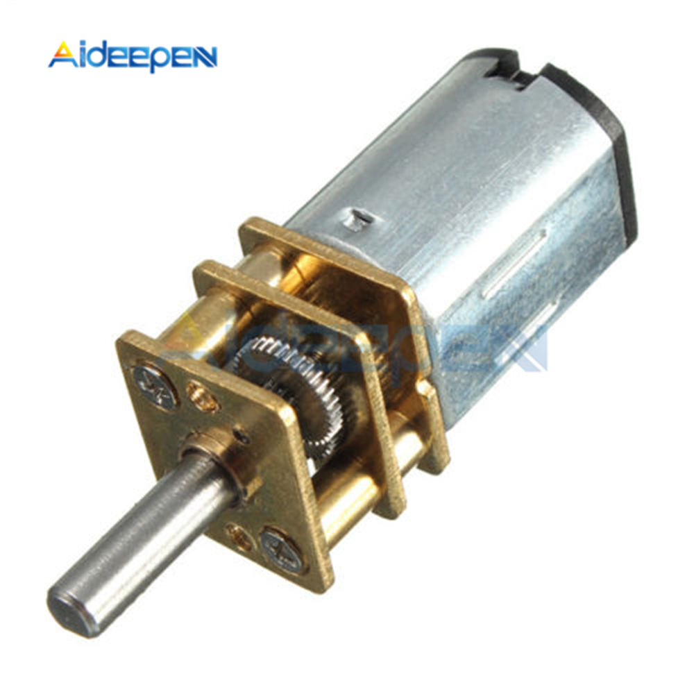 DC 6V <font><b>N20</b></font> 30RPM Gear Motor Micro Speed Reduction Motor with Metal Gearbox <font><b>Wheel</b></font> DC Motors image