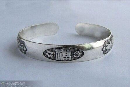 >>> Gros 1 cm Largeur Bijoux Argent Bracelet Poisson Rouge Sculpté Antique Totem bracelet hommes de Manchette Bracelets
