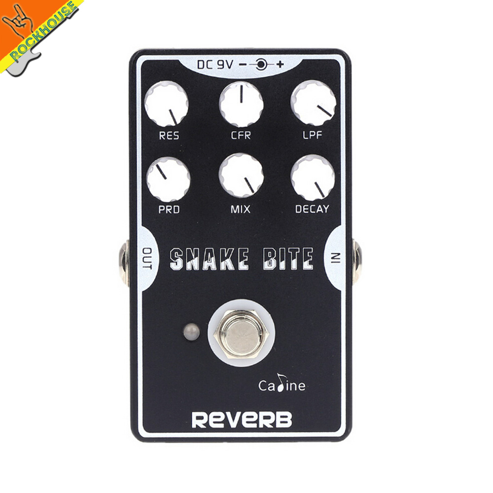 Caline Snake Bite Reverb Guitar Effects Pedal Reverberation Guitarra Pedal Stompbox with delay effect True Bypass Free Shipping mooer ensemble queen bass chorus effect pedal mini guitar effects true bypass with free connector and footswitch topper