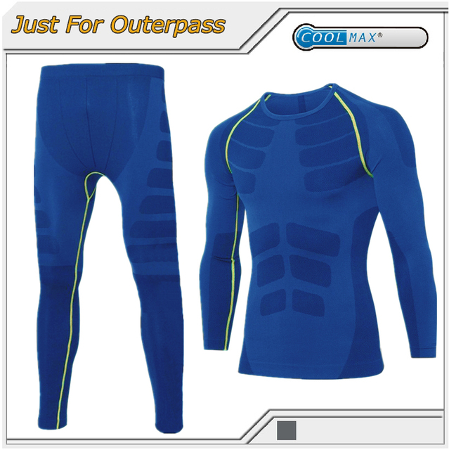 New Mens Thermal Underwear Men Winter Brand Quick Dry Anti-microbial Stretch Thermo Underwear Sets Male Warm Long Johns