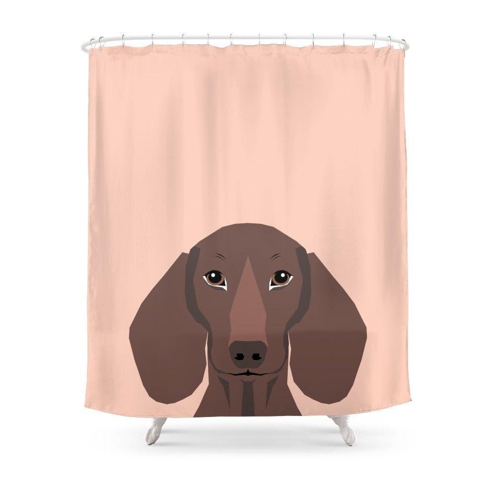 Remy Daschund Hipster Dog Doxie Wiener Dog Shower Curtain Waterproof Polyester Fabric Bathroom Decor Printed Shower Curtain