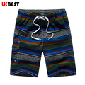 LKBEST 2017 New fashion men beach shorts striped quick dry men's bermudas boardshorts plus size M-5XL N1720