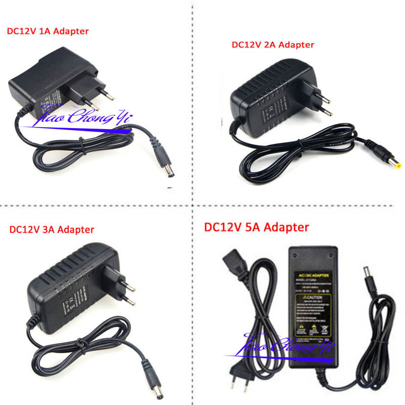 AC110 220V Power Supply Adapter Transformer LED Strip 2A 3A 5A 8A DC 5V 12V 24V 5V 12V 24V Power Supply Adapter US/EU/UK/AU Plug