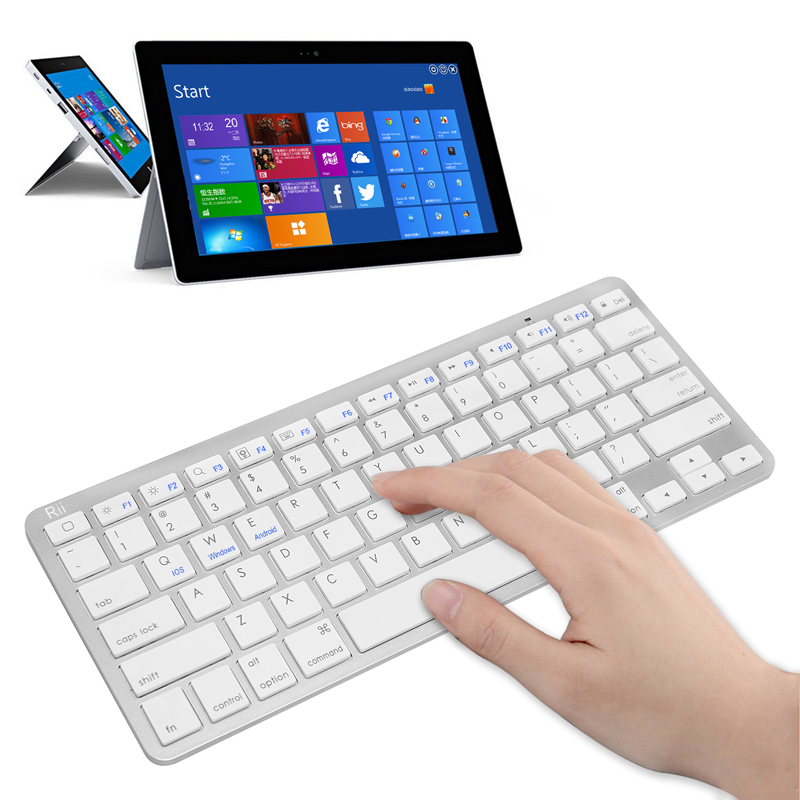2015 best bluetooth keyboard rii bt09 ultra slim wireless bluetooth keyboard connection for. Black Bedroom Furniture Sets. Home Design Ideas
