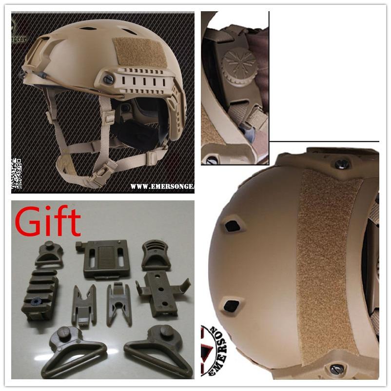 Base Jump Helmet EMERSON FAST Helmet BJ TYPE protective Adjustable helmet Dark Earth EM5659A