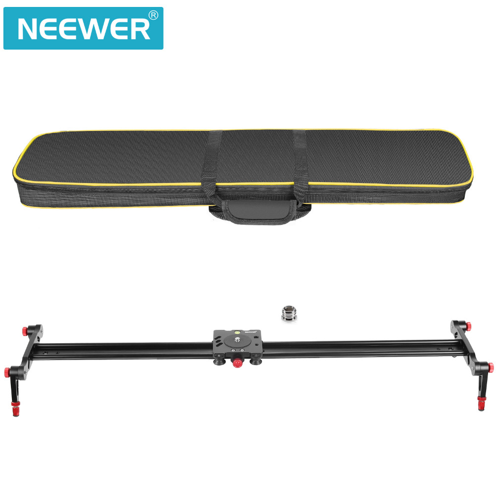 Neewer 31.5 inches/80 cm Aluminum Alloy Camera Track Slider Video Stabilizer Rail with 4 Bearings For Canon/Nikon/Pentax/Olympus ashanks 60cm camera track slider 4 bearings rail slide aluminum alloy photography dv studio stabilizer for dslr video camcorder