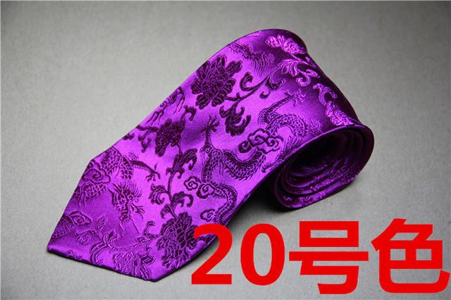 Dragón chino de seda lazo del negocio, elementos chinos en el último lazo superior, regalo de cumpleaños regalo de un hombre amar