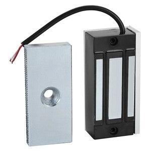 Image 3 - Serrure électromagnétique magnétique électrique de porte de Dc24V 60Kg tenant laccès dentrée Mini