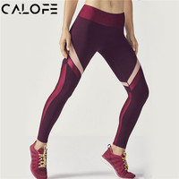 CALOFE women Yoga Sport Leggings White Striped Yoga Pants Running Fitness Training Pants Fitness Clothes Athletic Leggings Women