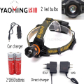 Dual light source zoom headlamp CREE Q5 4 modes outdoor camping powerful led headlight+18650 battery+charger bicycle head lamp