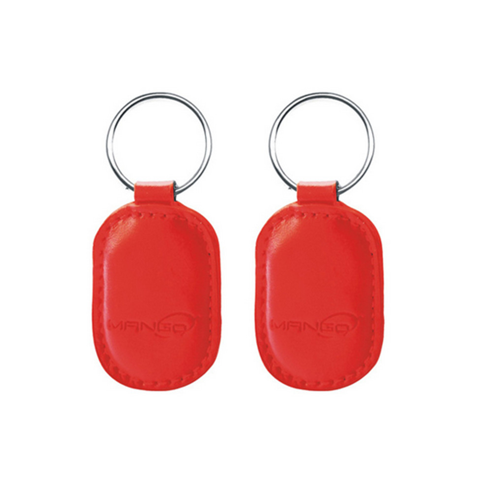 100pcs 125Khz Rewritable T5577 RFID Promixity Leather ID Token Key Ring Copier Duplicate RFID Tag