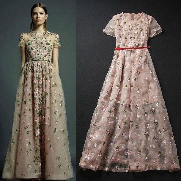 2013 summer women's organza slim expansion bottom full dress fashion elegant short-sleeve dress