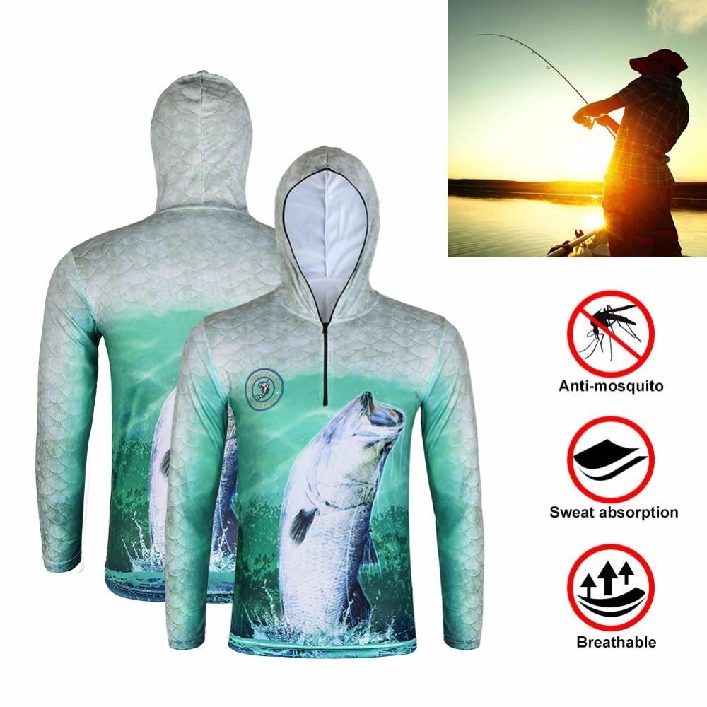Ultra-Light Hooded Fishing Clothings Quick Dry Sun Protection Fishing Shirts Anti-UV Fishing Clothes Vest Size L-3XL