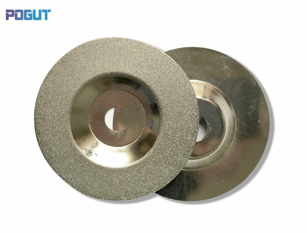 Купить с кэшбэком Free Shipping Plating Diamond Grinding Disk for Glass or Marble D100*H16*T1
