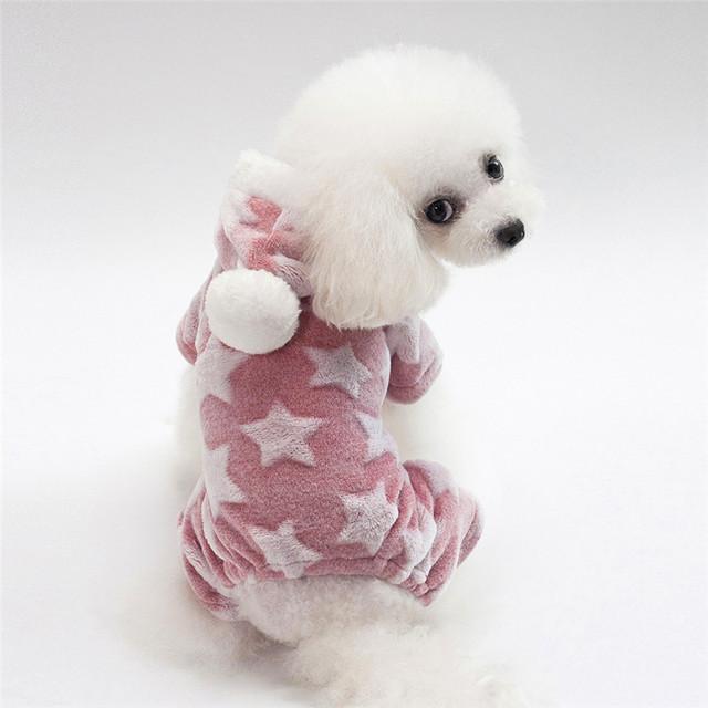 Cotton Soft Stars Patterned Hooded Dog Jackets