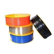 Воздушные трубки пневматические трубы шланг 10 мм OD 6,5 мм ID 8 мм x 5 мм 6 мм x 4 мм 2,5 мм 12x8 мм прозрачный синий красный PU Воздушный газовый шланг