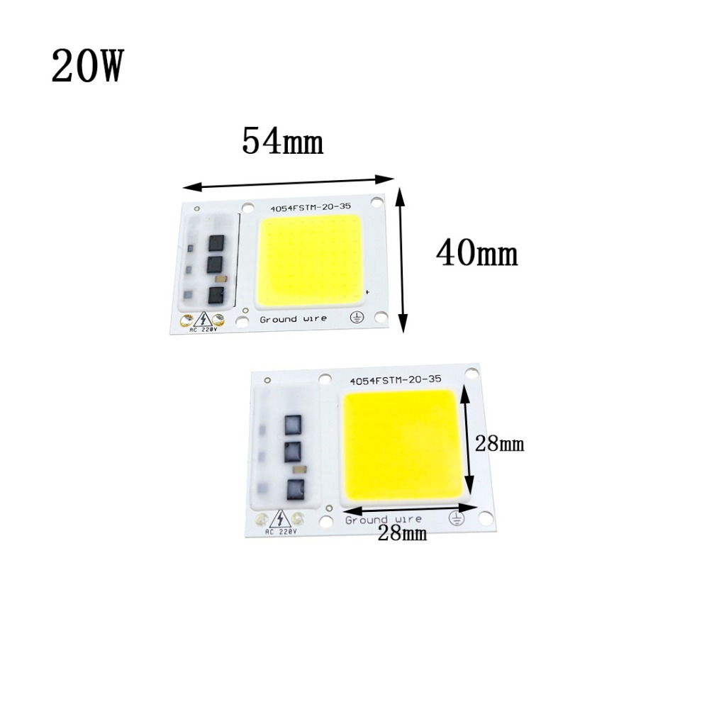 AC220V 20W 30W 50W LED COB Chip Light Lamp no need driver Highlighted light source DIY Chip Lamps Bulb for light COB LED Chip DA